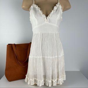 WILDFIRE Size 6 White Lined Summer DressAdjustable